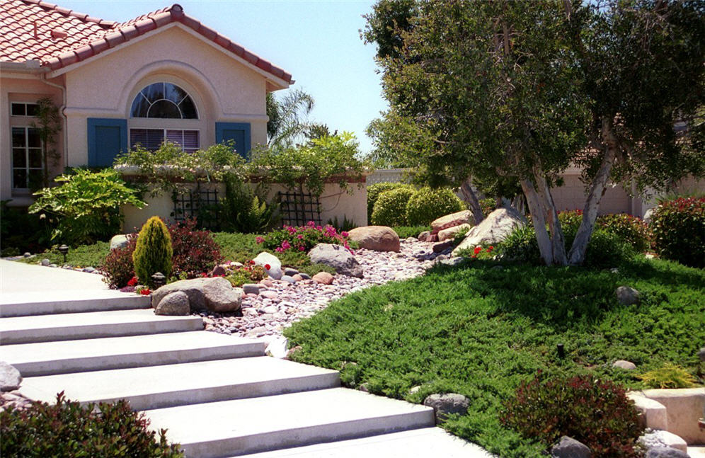 Xeriscape Small Backyard : front yard landscaping ideas